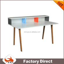 Modern furniture design wooden computer/study table with bookcase