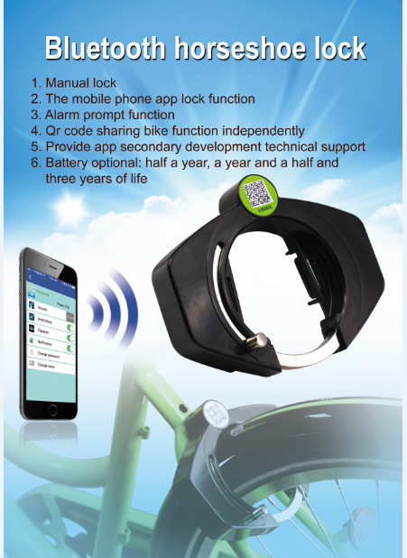 Smart Lock waterproof Bluetooth Alarm Horseshoe Lock with APP on your phone