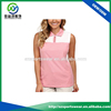 Single-button keyhole placket ladies sleeveless OEM service Cool dry golf shirt