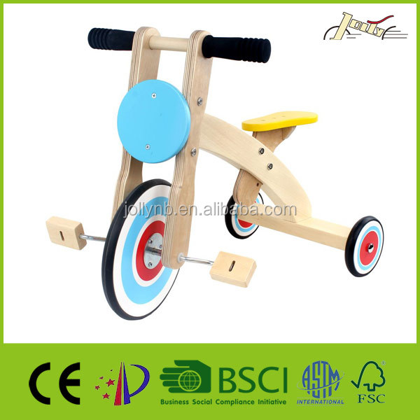 Cute Kids Wooden Ting Trikes for Child Walking Toy