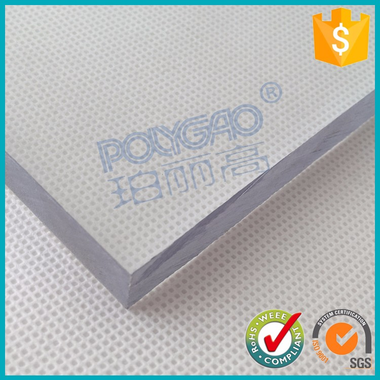 High impact resistance 10mm clear hard plastic polycarbonate solid sheet