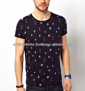 100 % Cotton Mens Allover Printed T Shirts - Buy Full Print T ...