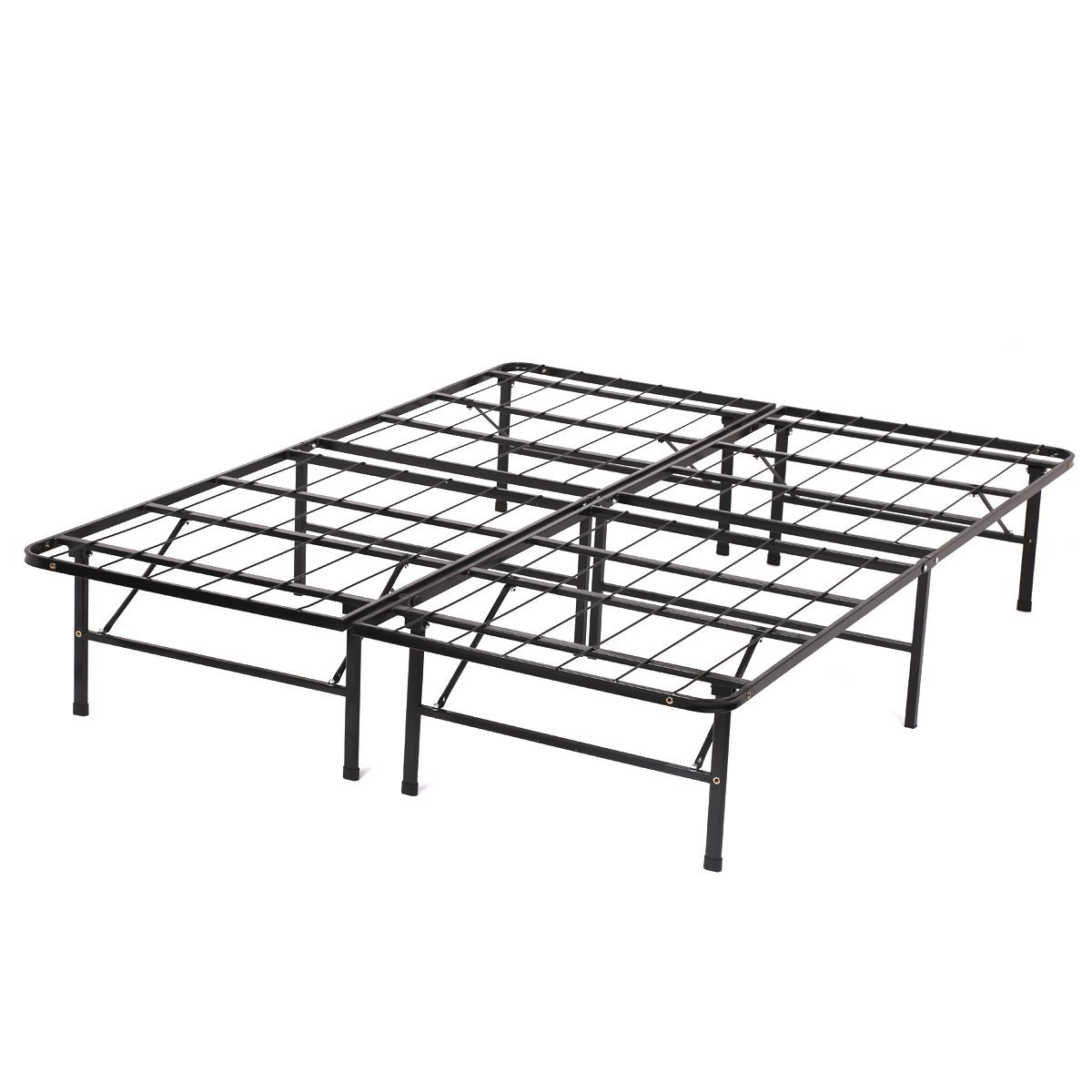 PayLessHere Bed Frame Bi-Fold Full Folding Platform Metal Bed Frame Mattress Foundation