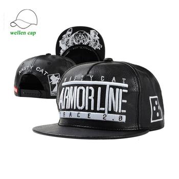 f48500bff720d Embroidery Logo Leather Snapback Hats Custom Snapback Caps Wholesale ...