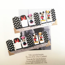 Mickey Lovely Nail Arts Sticker 14 pcs set Waterproof Nail Decal Art Sticker Gel Polish Manicure