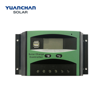 Yuanchan Factory Directly Waterproof 60A PWM LCD 12v/24v Auto Solar Charge Controller solar panel controller