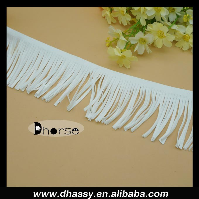 Hot sell fashion white leather tassels for shoe