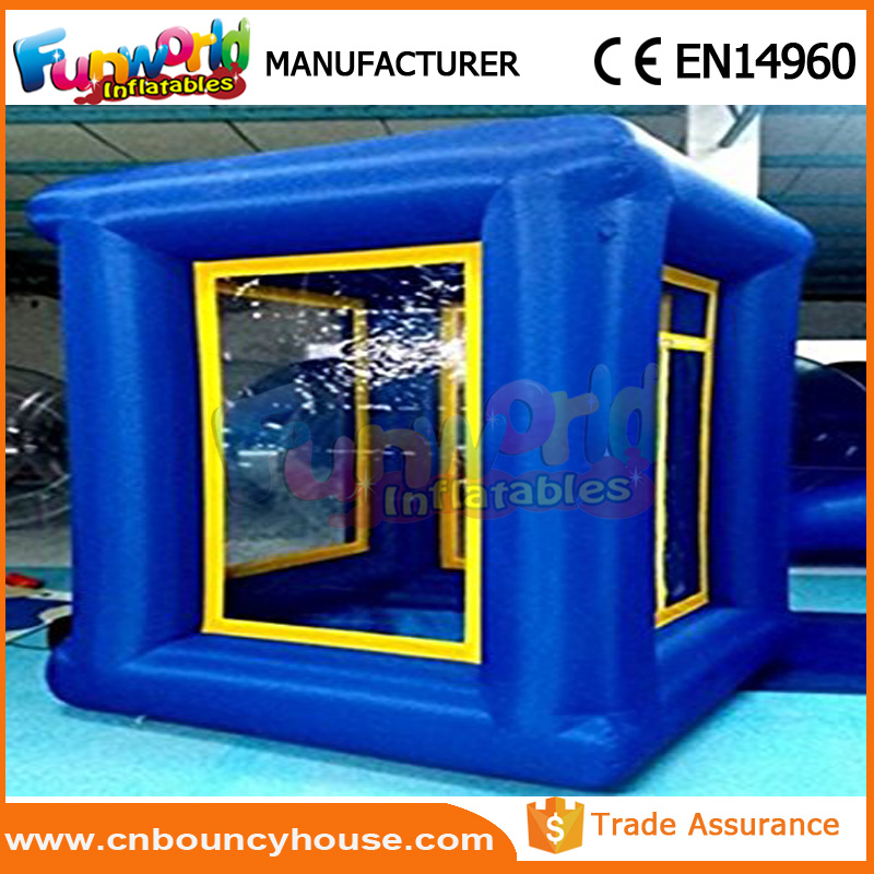 Popular inflatable money booth grabber inflatable cash cube