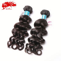 Ali Queen Hair Products Hair 2014 Beauty Looking, Natural Color Virgin Peruvian Wavy Hair