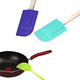 elegant rubber spatula with wooden handle