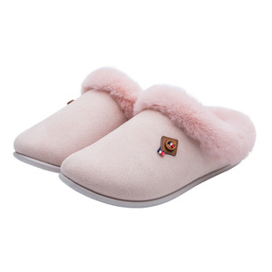6058 soft sponge bedroom slippers warm classical slippers knitting cotton fabric thick winter indoor easy wear slippers