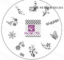 2015 S Series S6 Nail Polish DIY Stamping Plates Stainless Steel plate Nail Art Image Stamp
