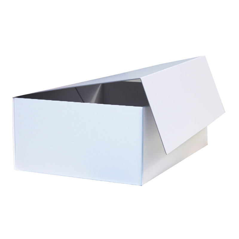 Luxury cardboard paper white magnetic gift packaging <strong>box</strong> with magnet closure lid