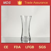 New design special crystal floral glass vase for weddings