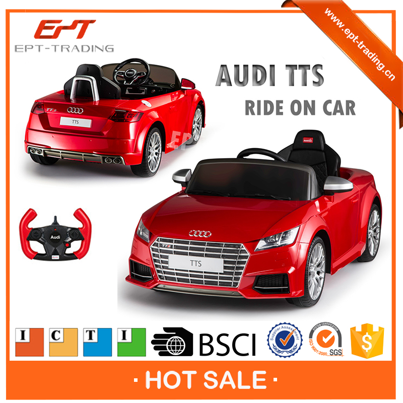 Licensed electric plastic ride on car with RC mode