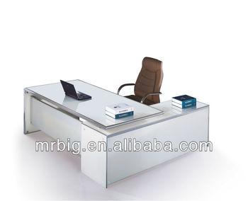 Wit gehard glas kantoor tafel db038 buy glazen kantoor tafel