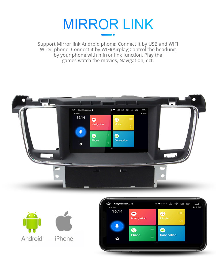 Android 9 0 2+16g 7 Inch Touch Screen Car Dvd Player For Peugeot 508 With  Bt Wifi Gps Radio Aux Mirror Link - Buy Car Dvd Player,Car Dvd Player For