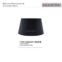 Cylindrical black silk lamp shades BRSD2051