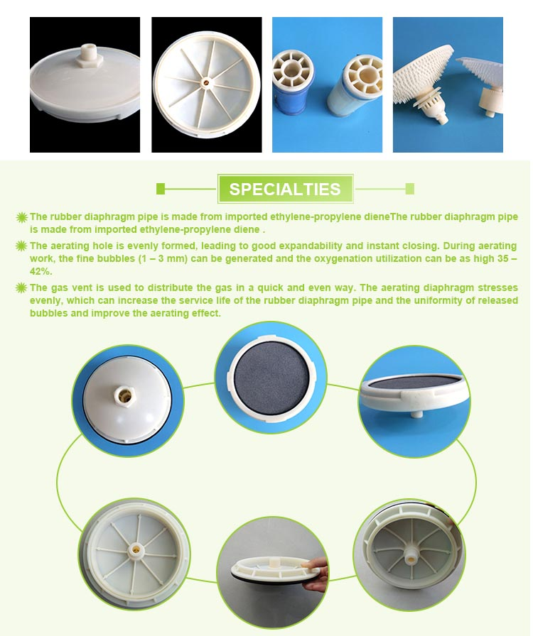 Disc Aerator Air Diffuser Ozonizer MBR Membrane Disk Aerator Fine Bubble Disc Diffuser