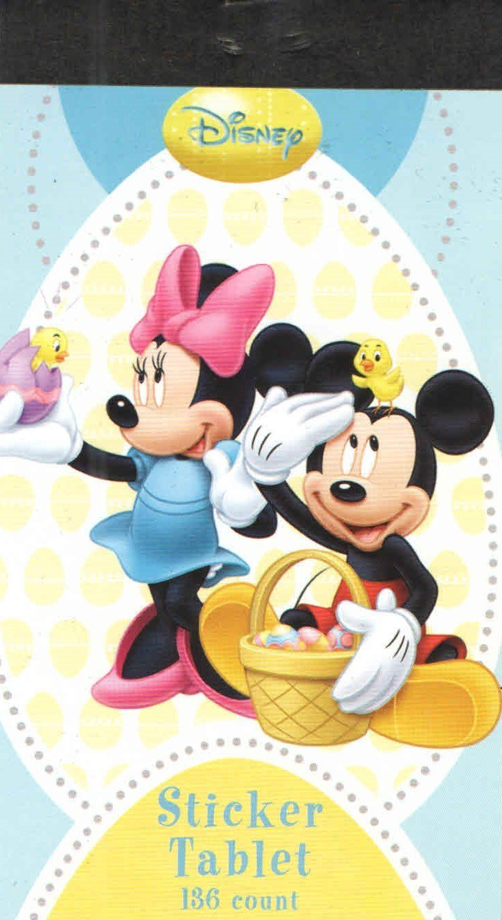 Disney Mickey Mouse Easter Sticker Book ~ 136 Count (Mickey and Minnie with Hatching Chicks)