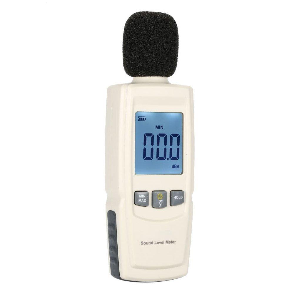 GXG-1987 GM1352 Handheld Sound Decibel Meter, LCD Digital Mini Sound Pressure Level Meter, Audio Noise Measurement 30-130dBA