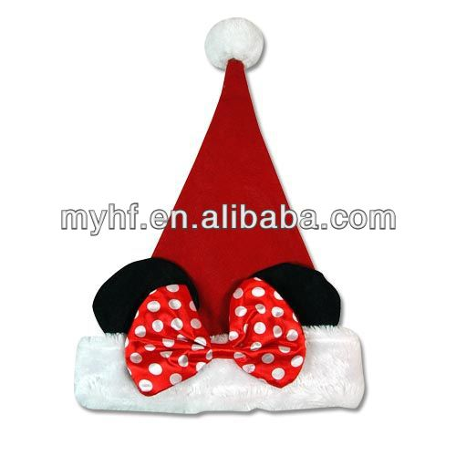 Holiday gift 16inch Plush Christmas Santa Hat Ears X mas Kids