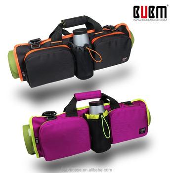 BUBM Manufacturer Zipper Openning Canvas Yoga Mat Bag Gym Tote