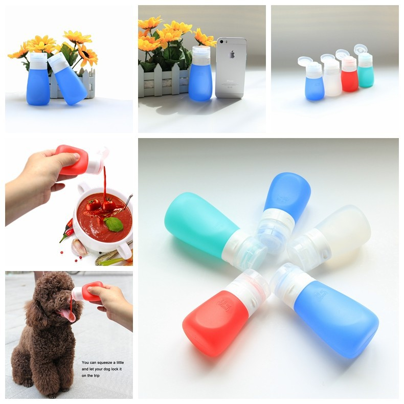 Squeezable Mini Bottles TSA Approved Mini Container for Salad Dressing