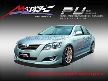 pu body kits for toyota 06 08 camry style v buy pu body kits car body kit c. Black Bedroom Furniture Sets. Home Design Ideas