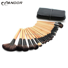 Cheap price personalized custom 32 makeup brush set