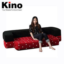 All in Sponge main materials soft fabric cover folding sofa bed, folding mattress, cover washable