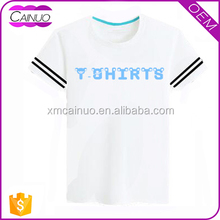 T-Shirt Collar Design Short Sleeve Cotton Tshirt Unisex Size