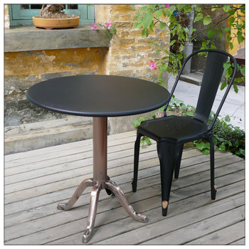 Outdoor Industrial Metal Cafe Table And ChairGarden Tea Table Set - Metal cafe table and chairs