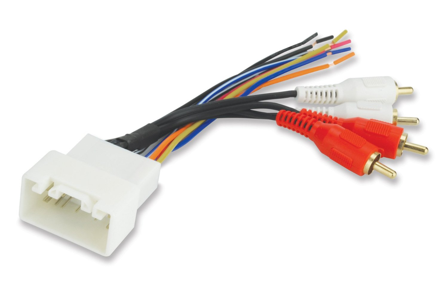 Get Quotations · Scosche Radio Wiring Harness for 2000-Up Toyota Amplifier  Interface Harness Only