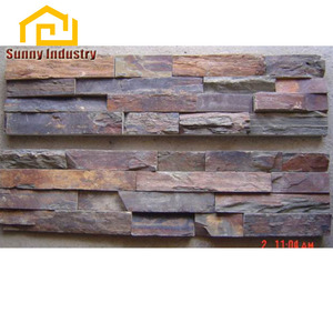 China Factory Cheap slate wall cladding Wholesale Cheap Different Colors Natural Split Culture Stone