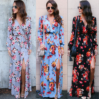 Pretty Women Maxi Clothing Cheap China Wholesale Clothing Party Floral Dress