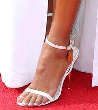 Лидер продаж; женские пикантные босоножки с замком; цвет золотой, серебряный, черный; тонкие туфли на шпильке с металлическим ремешком; туфл...(Китай)
