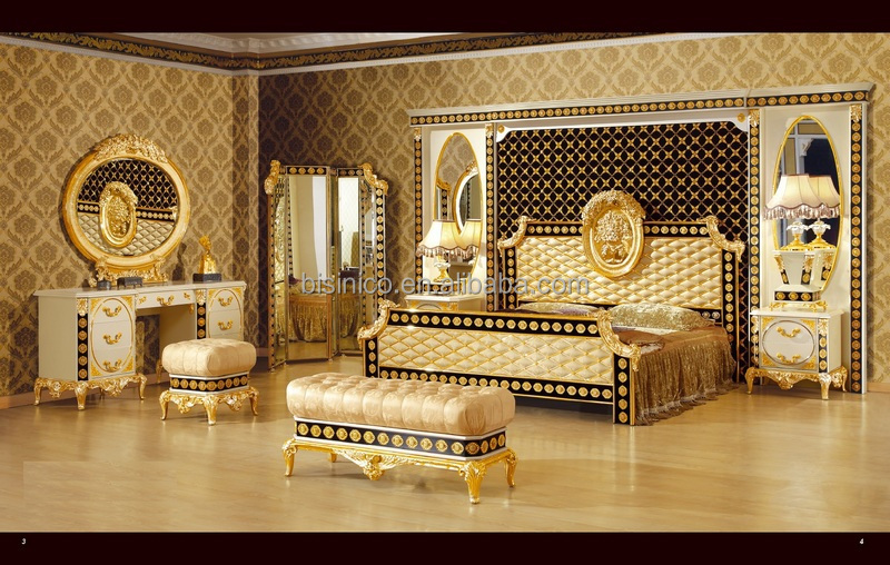 New Item Luxury Classical Kinge Size Bedroom Furniture Set