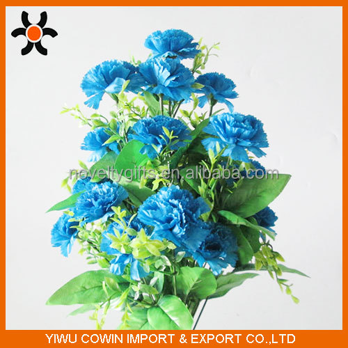 Professional 14-head Blue Beauty Artificial flowers