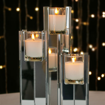 Mirrored Acrylic Votive Candle Holder Riser