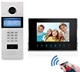 "Apartment building sip door video intercom with 7"" Color Monitor and Compatible Electronic Lock"