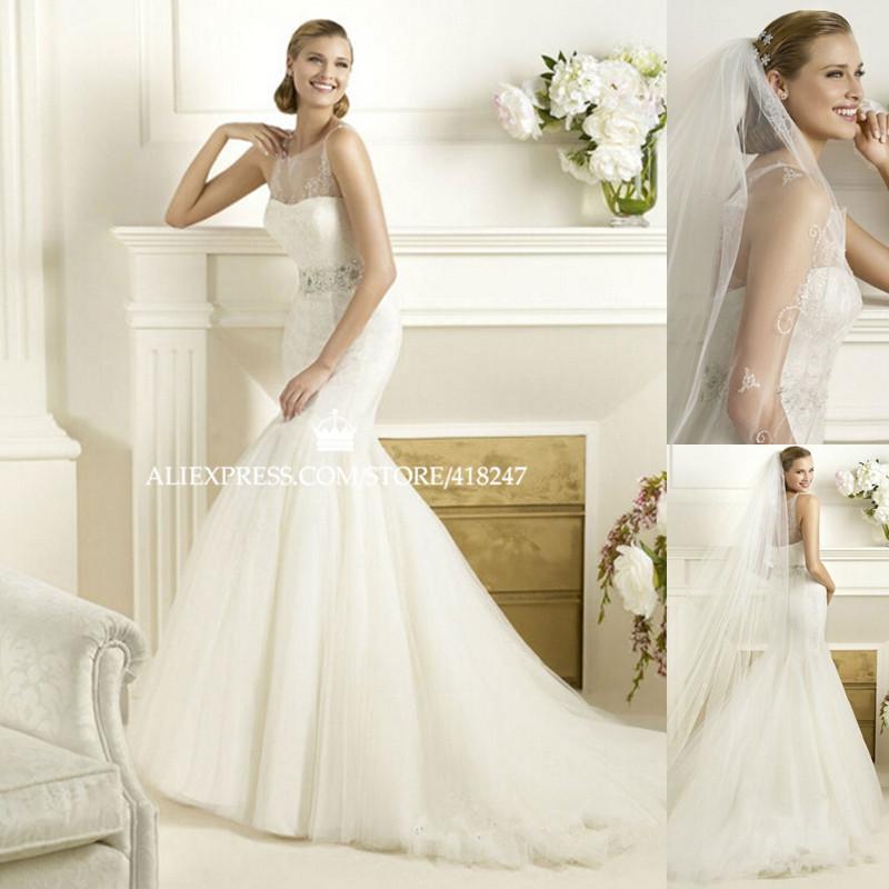 Turtleneck Wedding Gown: New Arrival Fashion Mermaid Wedding Dress Turtleneck Spaghetti Straps Lace Applique Beading