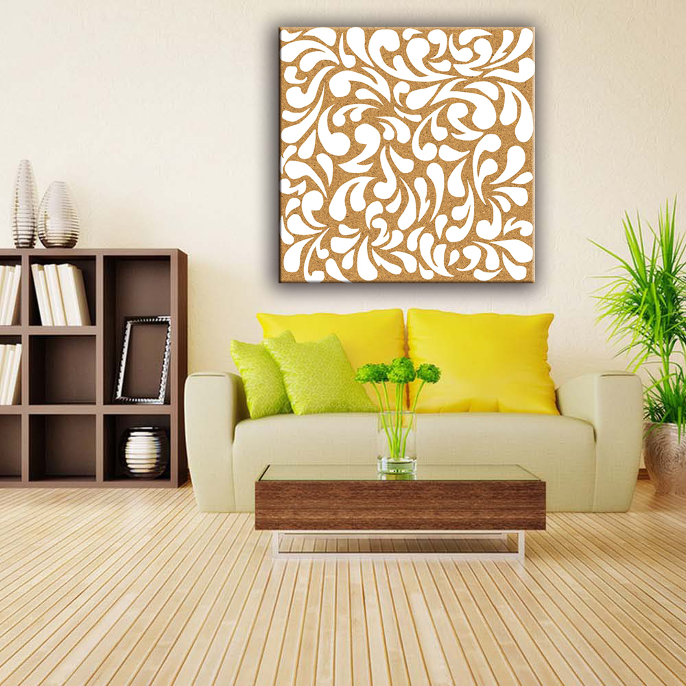 Hot sell Glossy MDF FSC/CARB pattern canvas art fabric painting designs