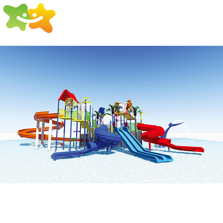 Fiberglass reinforce polyester water slide game for playground