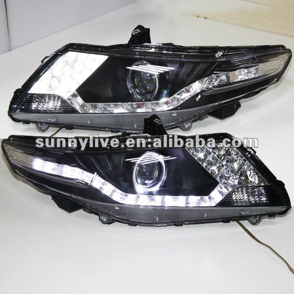 For Honda City Led Head Lamp Angel Eyes 2008 To 2012 Year