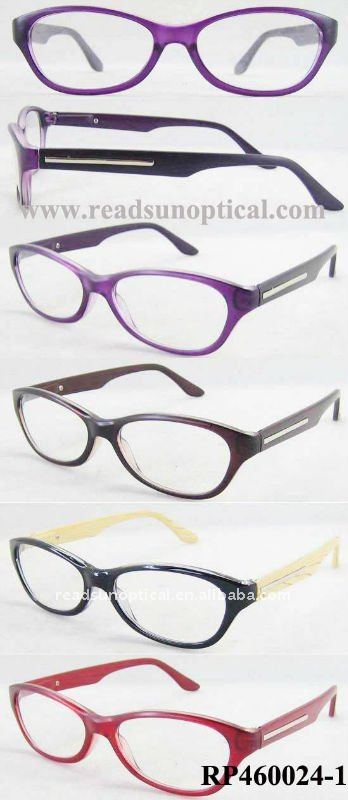Good Quality Plastic Material Wood Reading Glasses with Wood Pattern Temple(RP460024-1)
