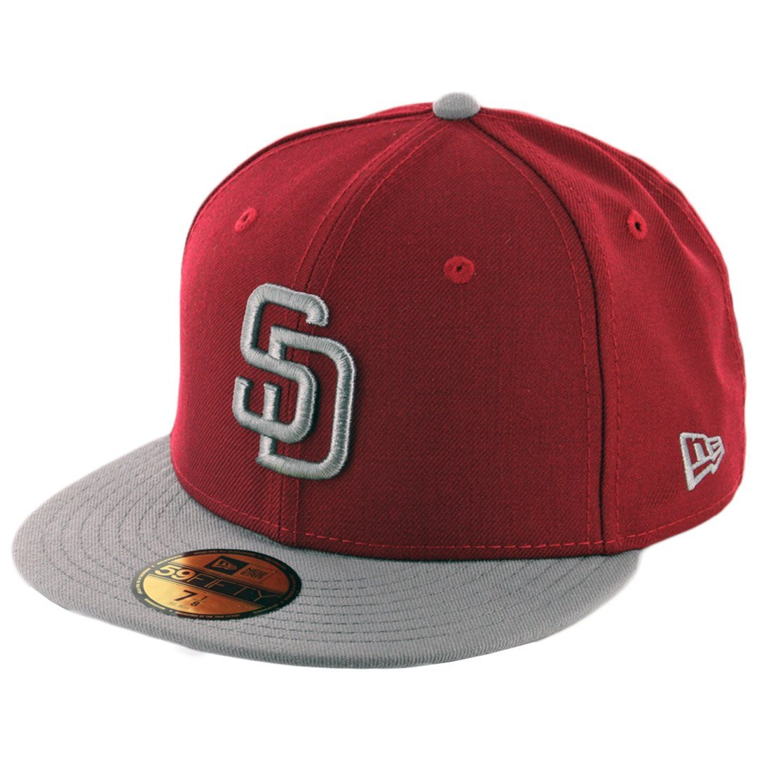 new product f740e 84b0f Get Quotations · New Era 59Fifty San Diego Padres Fitted Hat (CD SG-SG)  Cardinal