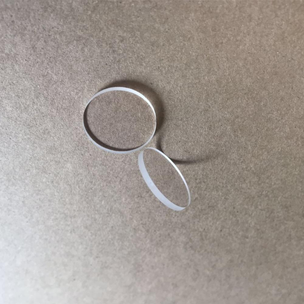 Custom-made round square clear optical crystal glass quartz plate