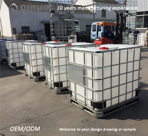 Food grade recipiente ibc recipiente 1000l ibc tanque de Tanque de agua 1000 litros