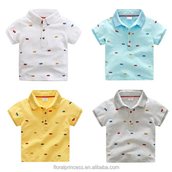 ffcd7d6fdd37 2018 Boys Clothing Summer Style Cotton T-shirt For Boy Polo Shirts Cars  Printing Cartoon